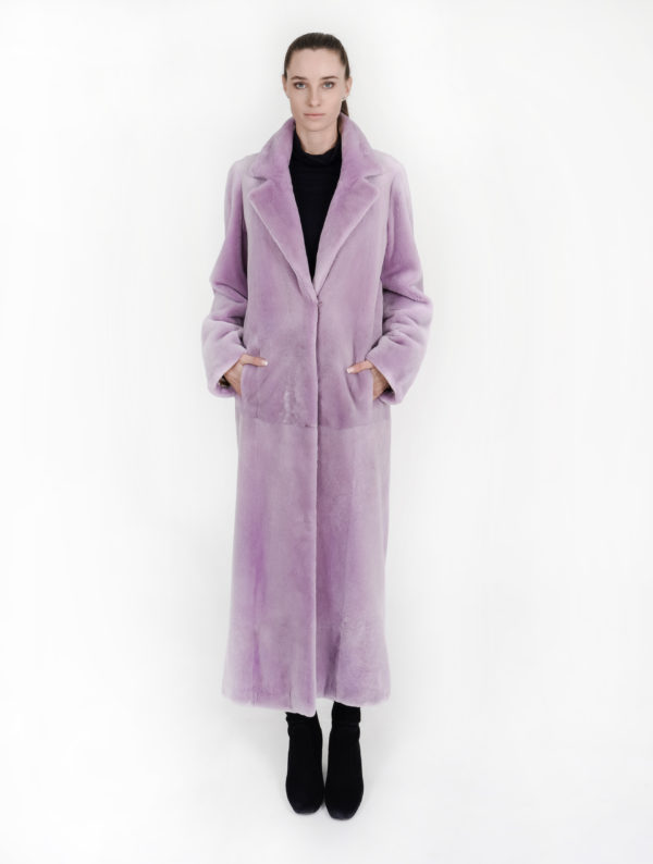 cappotto visone rasato