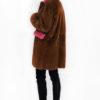cappotto visone nocciola